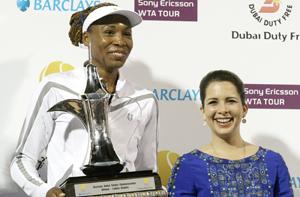 الأميرة هيا تتوج فينوس بطلة لتنس دبي