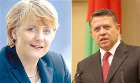 الملك والمستشارة الألمانية يبحثان في اتصال هاتفي تطورات الأوضاع بالمنطقة