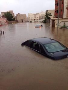 شاهد بالصور ... السيول في جدة