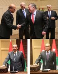 بالصور ....العلاف والقضاة يؤديان اليمين القانونية أمام جلالة الملك