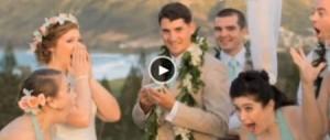 بالفيديو .. أوباما يفسد حفل زفاف بلعبة غولف
