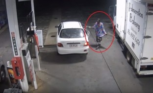 بالفيديو .. لص يسرق سيارة من داخل محطة وقود أثناء دفع صاحبها ثمن الوقود!
