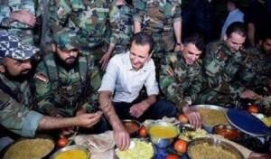 بالصور... بشار الأسد يتناول الفطور مع جنوده وهذا ما قاله