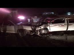 اصابة 3 اشخاص اثر حادث تصادم بين مركبتين في منطقة الاشقف البادية الشمالية