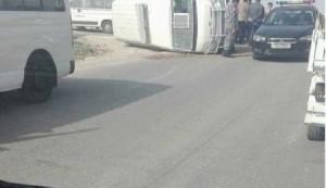 بالصور..اصابة 4 افراد من الدرك و 5 مواطنين بحادث تصادم بمنطقة الفيصلية في مادبا
