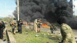 حلب .. 100 قتيل في تفجير انتحاري بقافلة مهجّرين