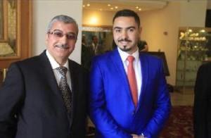 سليمان الهواري يهنئ المهندس يزيد ابو حمور بالزفاف