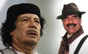 القذافي حاول تهريب صدام حسين