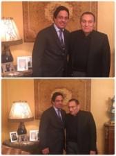 بالفيديو والصور: نائب رئيس مجلس الأمة الكويتي ونجله يلتقطان سيلفي مع مبارك في منزله
