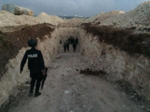 مداهمة امنية لضبط عملية حفر بئر مخالف في الرمثا