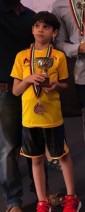 فراس الشواورة لاعب نادي الارينا الرياضي يحرز الميدالية البرونزية  للناشئين في بطولة ابوظبي للشطرنج