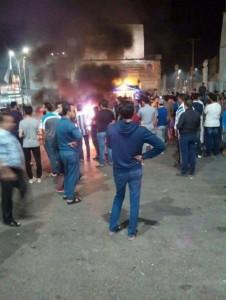 رمثاويون يحتجون على فيديو اعتداء الأمن في اربد