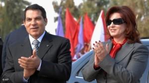 بالصور...أول ظهور للرئيس التونسي زين العابدين بن علي خلال حفل خطوبة ابنته في دبي