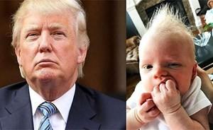 بالصور...حفيد ترامب الجديد يخطف أنظار المتابعين بشكله المطابق لجده
