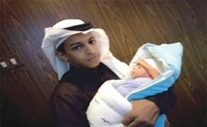 بالصور...أصغر عريس في السعودية يرزق بمولود بعد زواجه بعامين