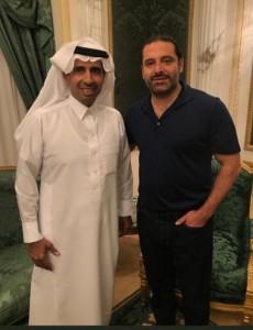 الحريري يفند مزاعم اعتقاله في السعودية بتغريدة وصورة