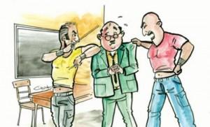 توقيف ولي امر طالب لاعتدائه على معلم