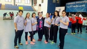 طالبات جامعة عمان الأهلية يشاركن بمهرجان فيلادلفيا الرابع في ألعاب