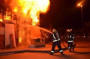اربد .. أحرق منزله اثر خلاف مع زوجته