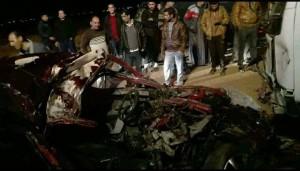وفاة زوجين وطفلتهما إثر حادث تصادم مروع بالمفرق
