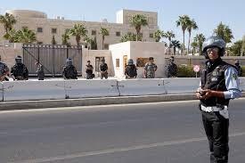 الأمن يغلق جميع الطرق المؤدية الى السفارة الأمريكية في عمان