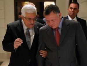 جلالة الملك عبدالله الثاني يلتقي الرئيس الفلسطيني محمود عباس