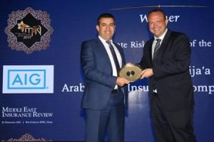 عدنان أبو الهيجاء من شركة gig – الأردن يحصل على جائزة أفضل مدير مخاطر