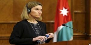 موغريني لـ نتنياهو: سندعم ملك الاردن في عملية السلام