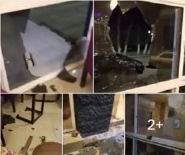 بالفيديو والصور...تحطيم محل تجاري من قبل أرباب سوابق لرفضه دفع خاوات لهم في اربد