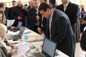 بالصور...افتتاح مركز تسليم البطاقات الذكية لبنك القاهرة عمان في جامعة الحسين بن طلال
