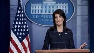 هيلي: سندعو لاجتماع طارئ لمجلس الامن حول ايران