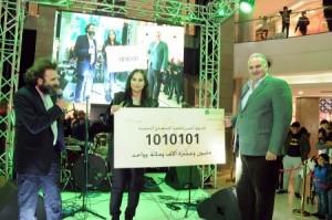 مليونيرة جديدة تفوز بجائزة بنك القاهرة عمان الكبرى