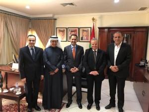 المحامي الدولي الدكتور فيصل الخزاعي يزور السفارة الاردنية بالكويت