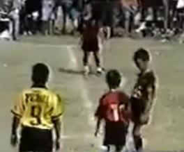 فيديو نادر لمهارة ميسي عندما كان طفلا