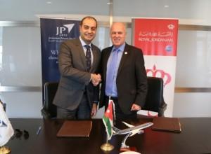 الملكية الأردنية توقع اتفاقية مناولة أرضية مع الشركة الأردنية لخدمات الطائرات الخاصة