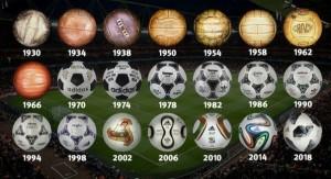 صورة للكرات الخاصة بكأس العالم