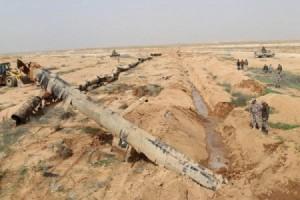 بالفيديو والصور .. الجيش يحبط مخططا ارهابيا عبر انبوب نفط قديم