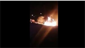 بالفيديو .. اشتعال صهريج محمل بمادة وقود اثر تدهوره عند اشارات