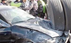 اصابة 13 مواطن اثر 3 حوادث تصادم وتدهور في اربد وجرش ومادبا