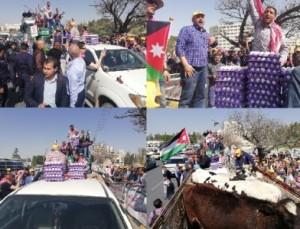 المزارعون يهددون باغلاق الطريق امام مجلس النواب ومشادات مع الامن العام !! صور