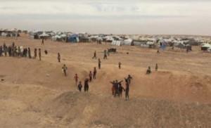 العواصف الرملية تتسبب بعشرات حالات الاختناق لقاطني مخيم الركبان
