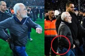 بالفيديو...رئيس فريق يوناني يحتج على حكم المباراة بالمسدس!