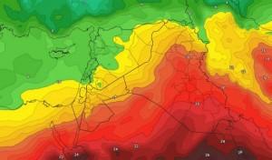 تراجع في درجات الحرارة ونشاط واضح للرياح الاسبوع المقبل