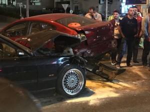 حادث سير في شارع المدينة المنورة فجر اليوم