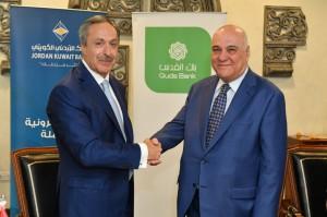 إندماج فروع البنك الأردني الكويتي في فلسطين ببنك القدس  ودخوله كشريك إستراتيجي  في البنك