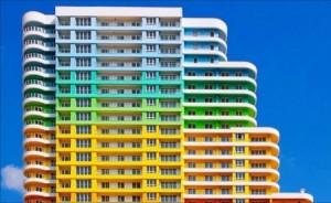 بالصور...أبنية خلابة باسطنبول بألوان قوس قزح