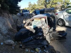 بالصور .. وفاة عشريني و اصابة 6 اخرين اثر حادث تصادم في جرش