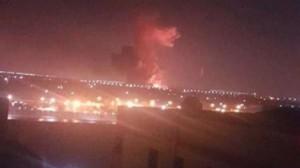 انفجار قرب مطار القاهرة .. والدفاع المدني يسيطر على الحريق