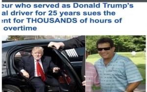 """سائق يقاضي الرئيس الأمريكي """"ترامب"""" في المحكمة"""