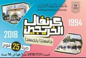الكرنفال الاحتفالي الاول لخريجي جامعة عمان الأهلية من كافة الافواج الـ